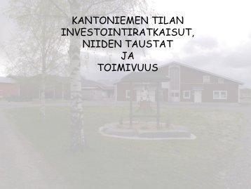 Hallittu laajentaminen - Case Kantoniemi - ProAgria Oulu