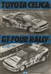 Tamiya Toyota Celica GT-4 Rally Manual - Wheelsacademy.info