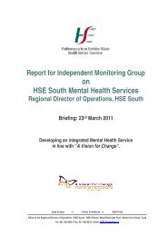 on HSE South Mental Health Services - Department of Health and ...