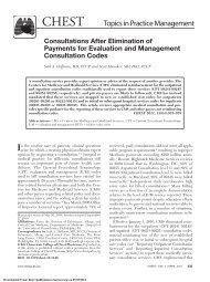 Topics in Practice Management - CHEST Publications