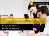 Interprofessional Education - The network - Towards Unity For Health