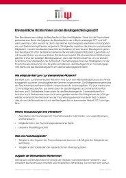 Ehrenamtliche Richter an Berufsgerichten - allgemeine Informationen
