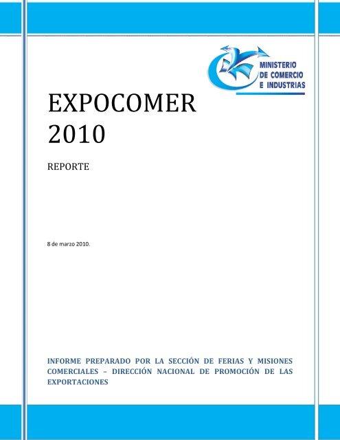EXPOCOMER 2010 - Ministerio de Comercio e Industrias