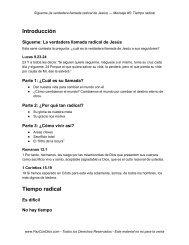 Introducción Tiempo radical - PazConDios