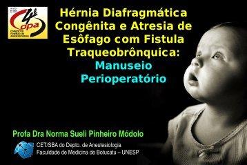 Deprest et al – J Pediatr Surg 2006; 41:423-430 - Unesp