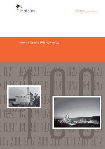 Annual Report 2011 Holcim Ltd - Alle jaarverslagen