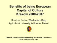 Krakow 2000-2007 - HERODOT Network for Geography in Higher ...