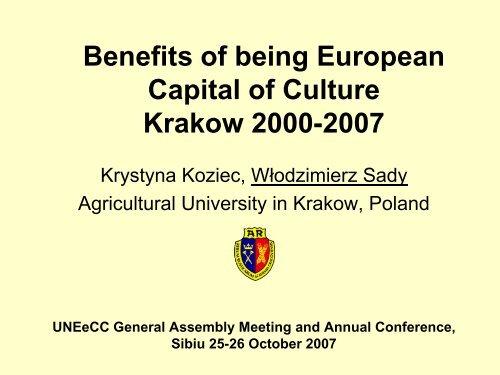 Krakow 2000-2007 - HERODOT Network for Geography in Higher ...