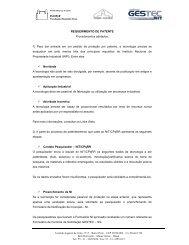 Requerimeto de Patente - Inova - CPqRR - Fiocruz