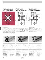 Profil lekki 30 x 30 Typ B02–1 Profil super lekki 30 x 30 Typ B03–1 ...