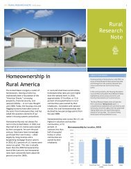 Homeownership in Rural America - Housing Assistance Council