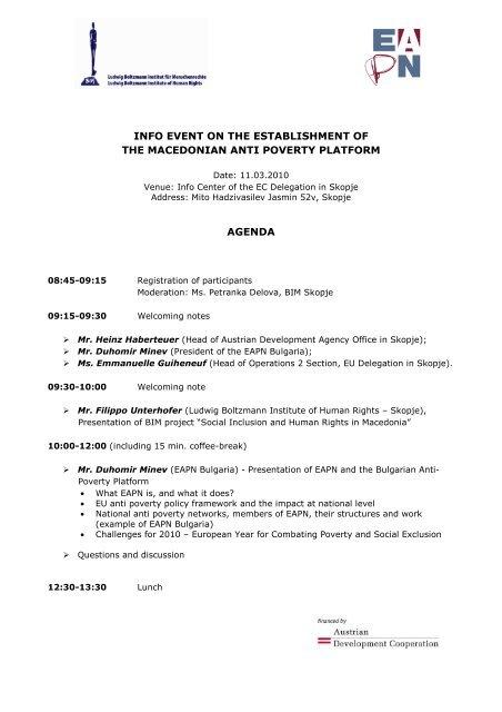 Agenda Kickoff event - Ludwig Boltzmann Institut für Menschenrechte