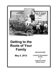 Getting to the Roots of Your Family - RootsWeb - Ancestry.com