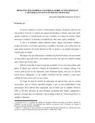 RETRATOS SEM SOMBRAS - Rede de Estudos do Trabalho