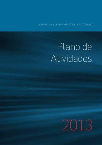 Plano de Atividades 2013 - Utad