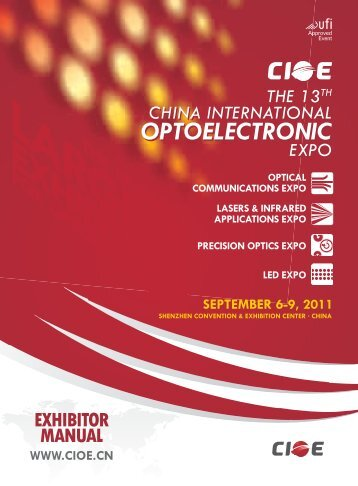 CIOE 2011 Exhibitor Manual