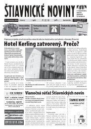 Štiavnické noviny 42 - Banská Štiavnica