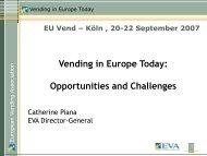 Vending in Europe Today - European Vending Association