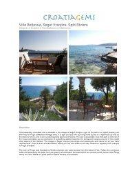 Villa Bellevue, Seget Vranjica, Split Riviera - Croatia Gems