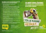 ulmer erklärunG - BÜNDNIS 90/DIE GRÜNEN Baden-Württemberg