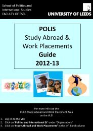 POLIS Study Abroad & Work Placements Guide 2012-13 - School of ...