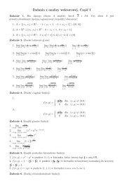 Zadania z analizy wektorowej. Część I