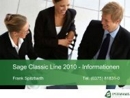 Sage Classic Line 2010 - Informationen