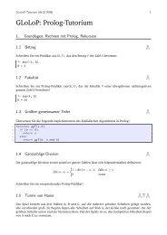 Prolog-Aufgaben