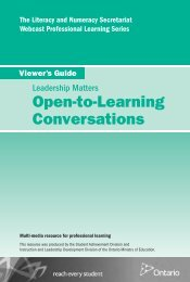Open-to-Learning Conversations - Curriculum Services Canada