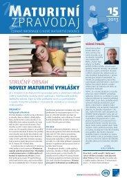 Maturitní zpravodaj 15/2013