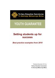 Setting students up for success - Tertiary Education Commission