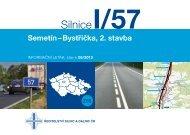 Silnice I/57 Semetín-Bystřička, 2. stavba - Ředitelství silnic a dálnic