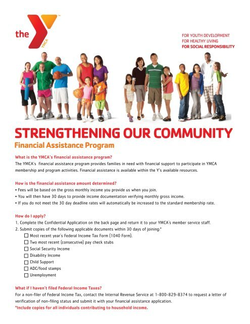 STRENGTHENING OUR COMMUNITY Financial Assistance ... - Ymca