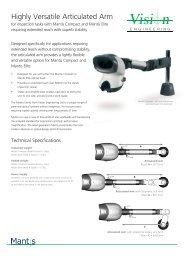 Mantis Articulated Arm Datasheet v10 English:Vision ... - EIS