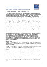 1 A reference buffer for households A study of Dutch ... - Nibud