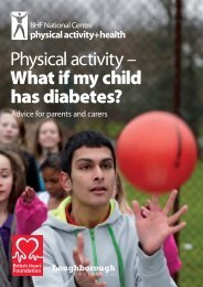 What if my child has diabetes? - BHF National Centre - physical ...