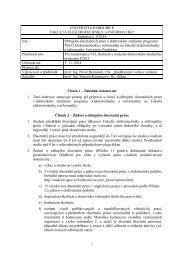Směrnice č. 11/2011 - Dokumenty - Univerzita Pardubice