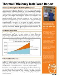 Thermal Efficiency Task Force Report - Vermont Department of ...
