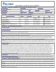 MATERIAL SAFETY DATA SHEET - Nu-Calgon
