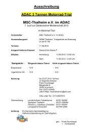 Ausschreibung ADAC 3 Tannen Motorrad-Trial Msc-Thalheim e.v. ...