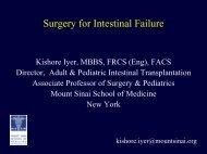 Surgery for Intestinal Failure