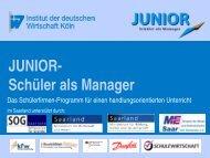 Junior – Schüler als Manager - Saarland - Ministerium für Wirtschaft
