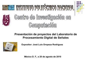 proyectos propuestos para temas de tesis - José Luis Oropeza