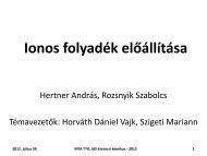 Ionos folyadékok előállítása