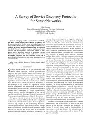A Survey of Service Discovery Protocols for Sensor Networks