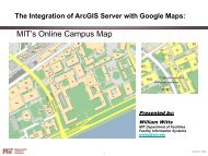The Integration of ArcGIS Server with Google Maps - Northeast Arc ...