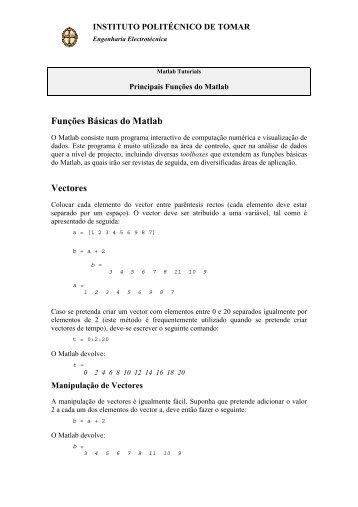 Instruções Básicas do Matlab - Departamento de Engenharia ...