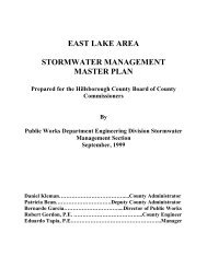 East Lake Area Watershed Management Plan - Hillsborough County ...