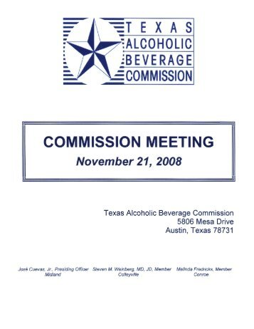 c - Texas Alcoholic Beverage Commission
