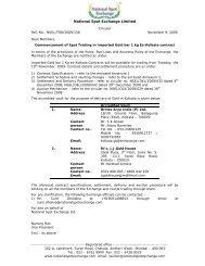 Ex-Kolkata(T+1) - National Spot Exchange Limited